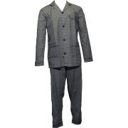 Gentlemen heren pyjama Poplin 'Dots' marine